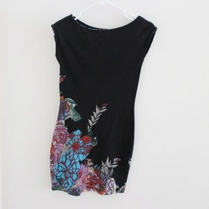 Colorful Floral Mini Dress